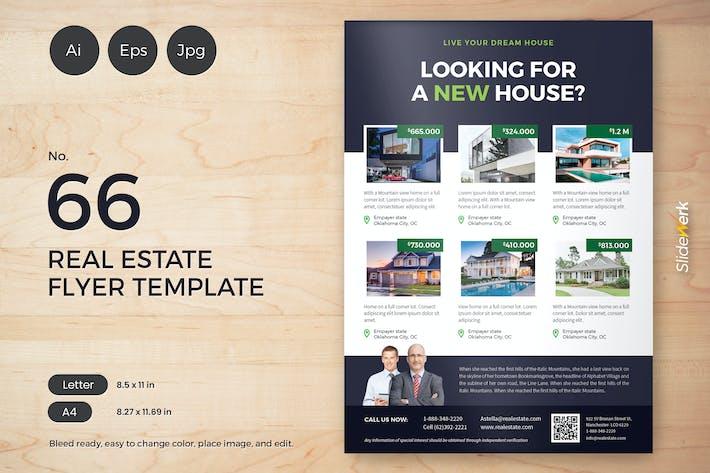 Thumbnail for Real Estate Flyer Template 66 - Slidewerk
