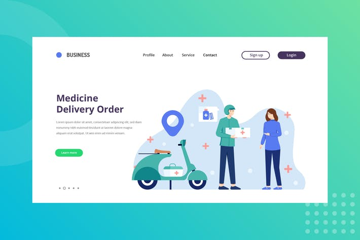 Medicine Delivery Order Landing Page