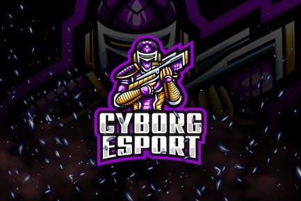 Cyborg E-Sport and Sport Logo Template