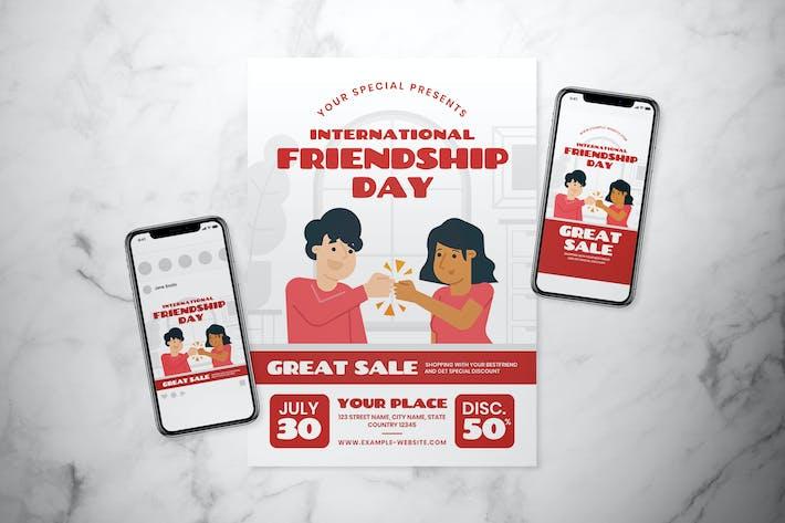 International Friendship Day Flyer Set