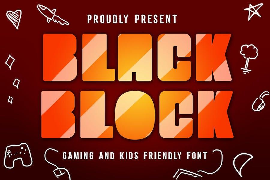 Police de jeu Black Block