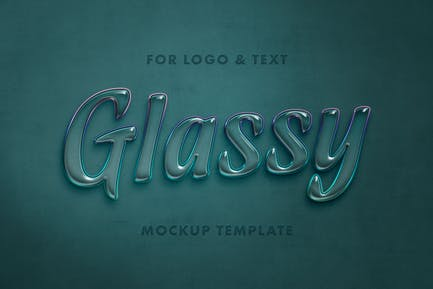 Glassy Bubble Text Effect