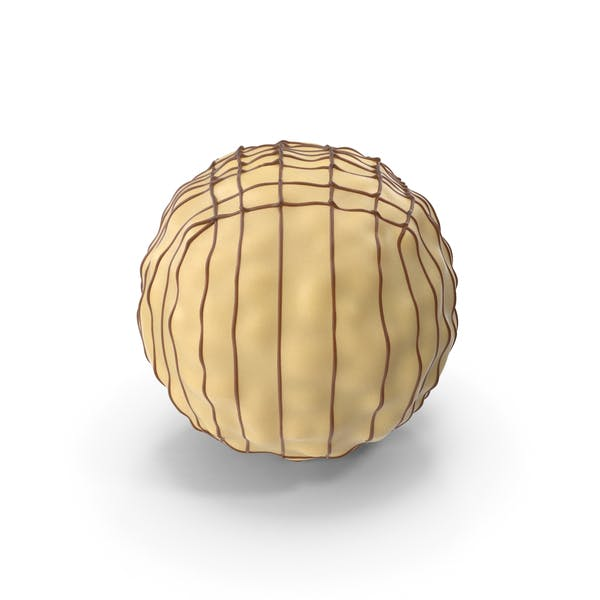 Cover Image for White Chocolate Ball with Chocolate Lines