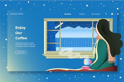 Coffee - Banner & Landing Page
