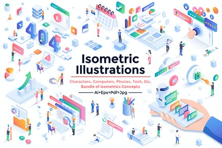 Modern Isometric Design Illustrations