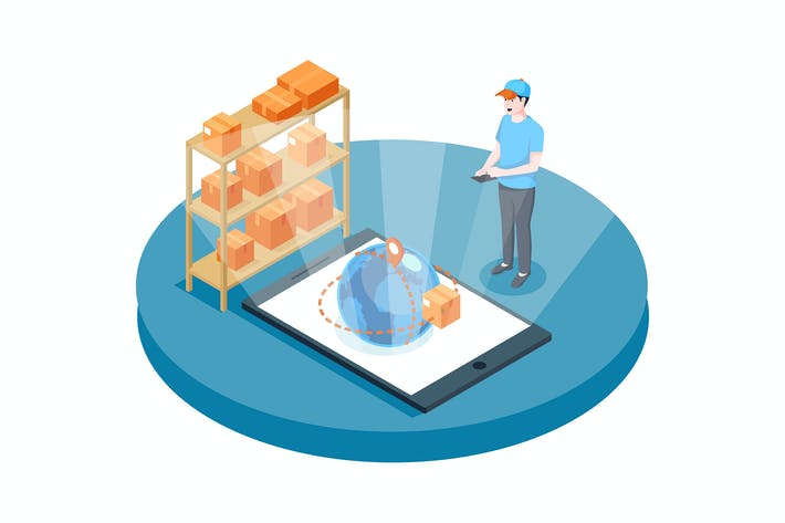 Thumbnail for Order Tracking vector Illustration concept