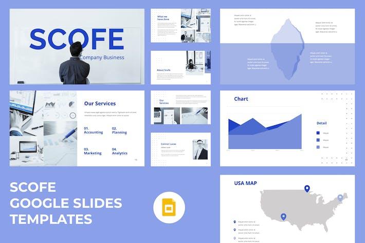 Thumbnail for Scofe - Startup Business Google Slides Template