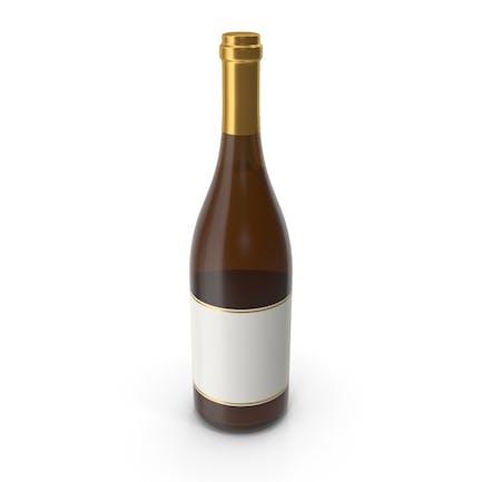 Champagner-Flasche Gold Weiß