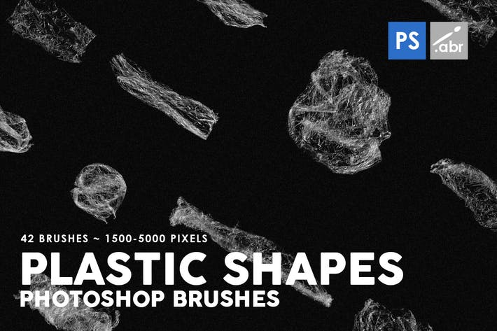 Thumbnail for 42 Plastic Shapes Photoshop Stamp Brushes