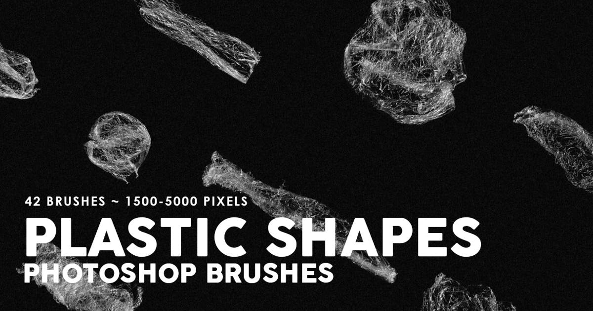 Download 42 Plastic Shapes Photoshop Stamp Brushes by M-e-f