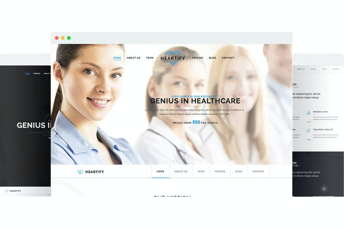 Thumbnail for Heartify - Responsive Medical and Health Template