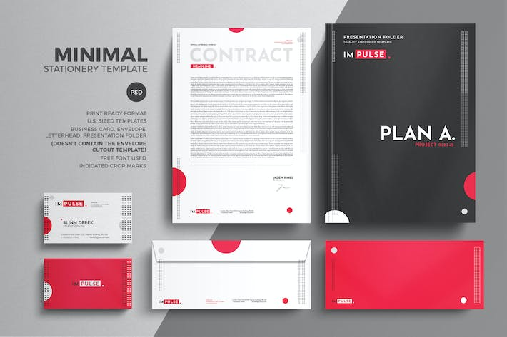 Thumbnail for Minimal Corporate Stationery Design Template