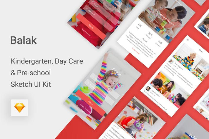 Thumbnail for Balak - Kindergarten & Pre-school Sketch UI Kit
