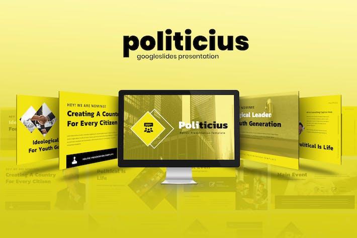 Thumbnail for Politicius - Political Campaign Google Slides