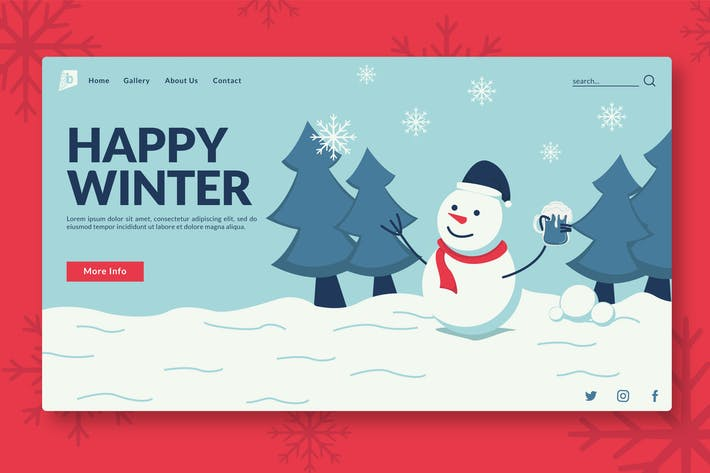 Thumbnail for Happy Winter - Landing Page GR