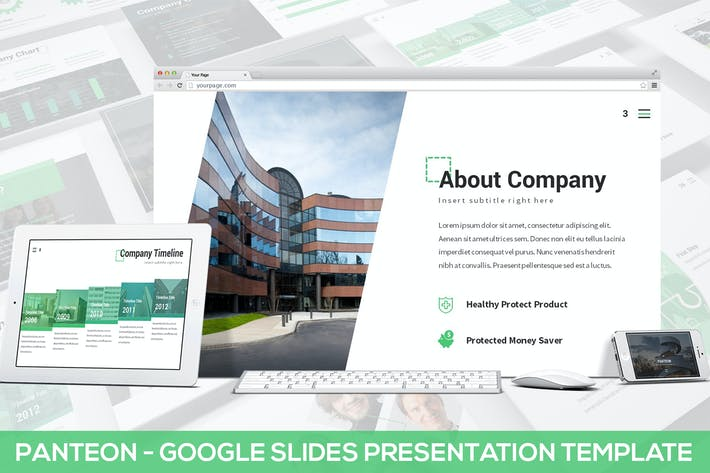 Thumbnail for Panteon - Google Slides Presentation Template