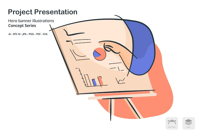 Thumbnail for Project Presentation Vector Illustration