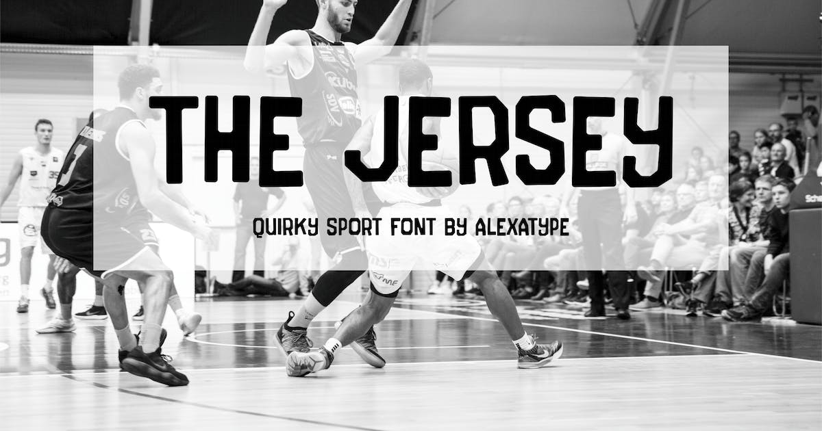 Download The Jersey - Quirky College Font by alexacrib