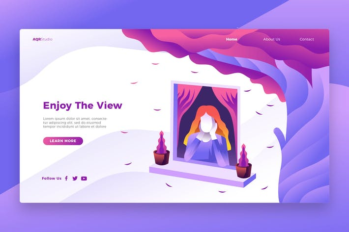 Thumbnail for Enjoy View - Banner & Landing Page