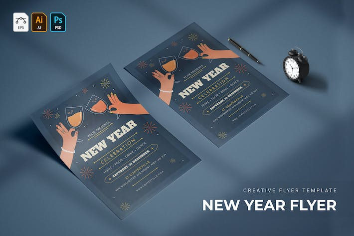 New Year Fireworksties | Flyer