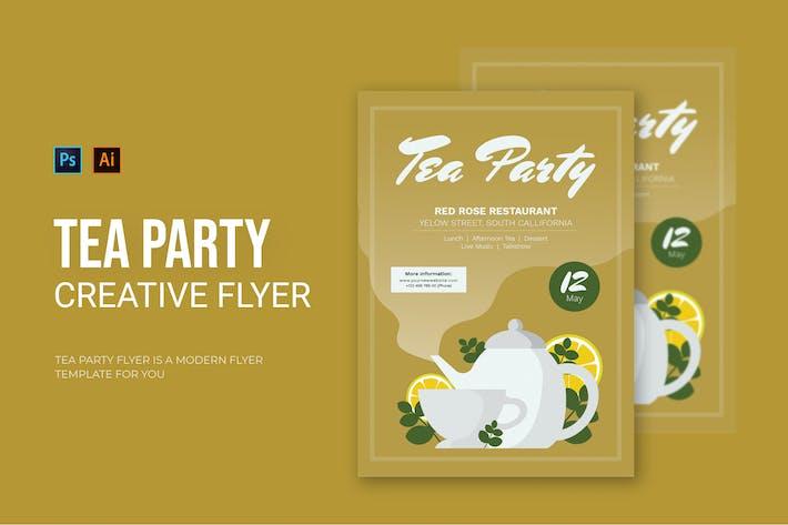 Thumbnail for Tea Party - dépliant