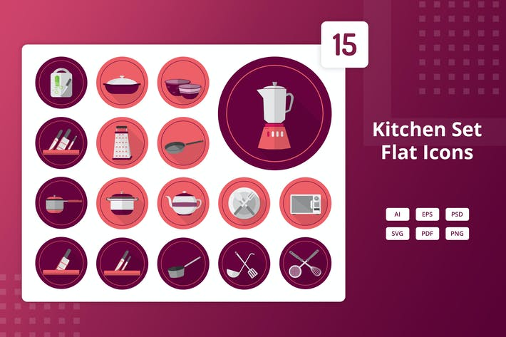 Thumbnail for Kitchen Set - Flat Icons
