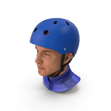 Skate Helmet on Head