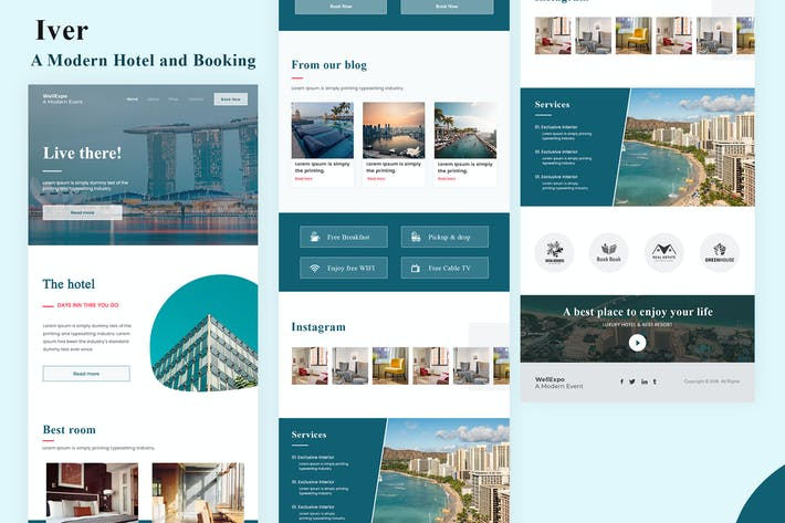 Thumbnail for Iver - Modern Hotel and Booking Email Newsletter