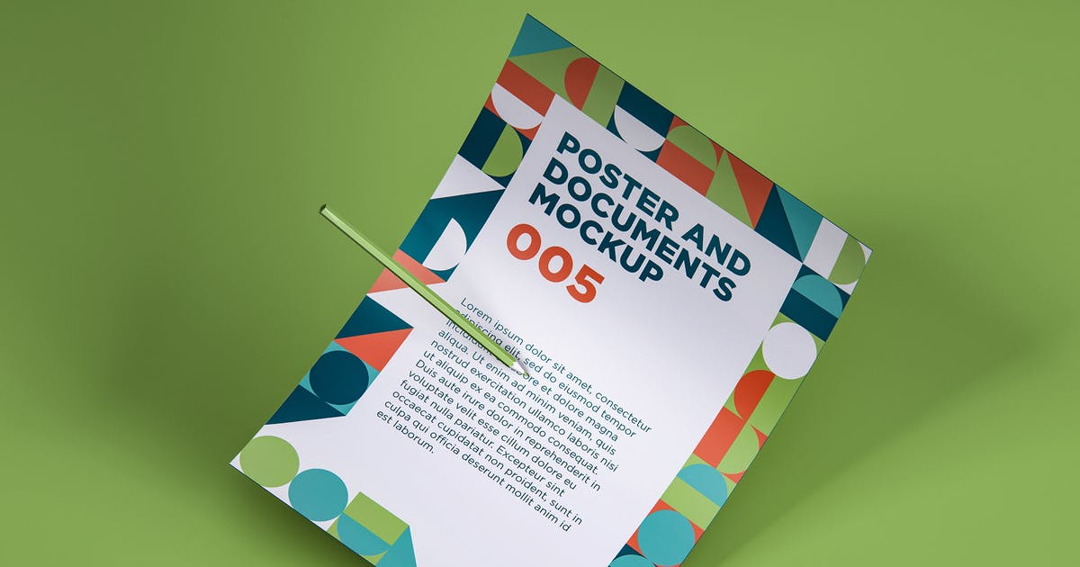 Download Poster And Documents Mockup 005 by traint