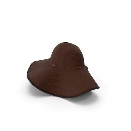 Womens Sun Hat Brown