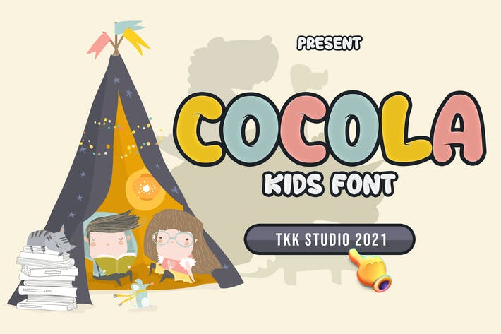 COCOLA - детский шрифт