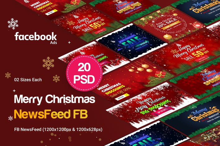 Thumbnail for NewsFeed Merry Christmas Banners Ad
