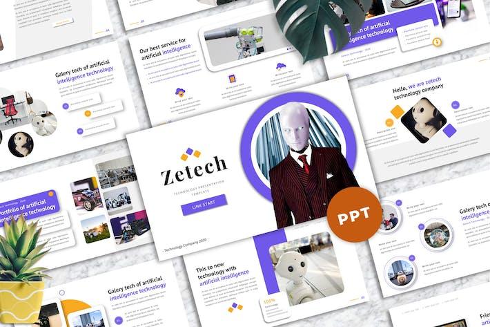 Thumbnail for Zetech - Технологические Шаблоны PowerPoint
