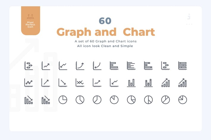 Thumbnail for 60 Graph and Chart Icons - Material Icon