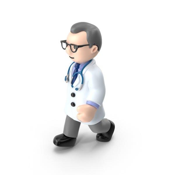 Cartoon Doctor Walking