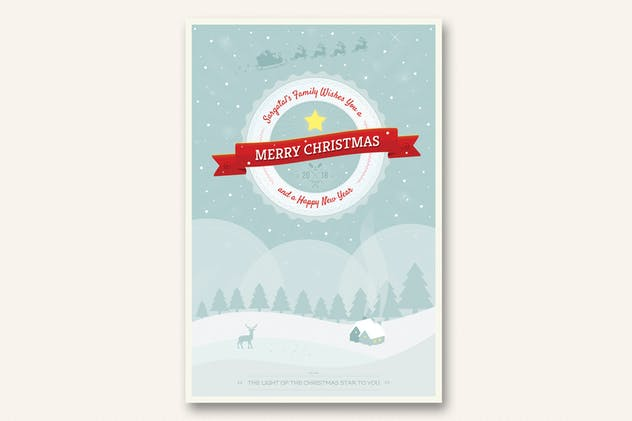 Cute Christmas and New Year Card - Volume 02