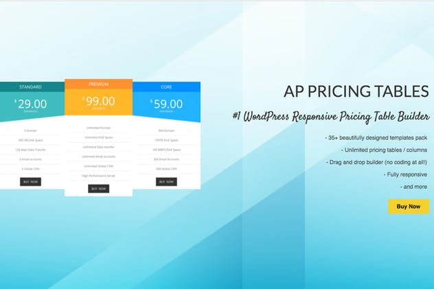 AP Pricing Tables -WP Pricing Table Builder Plugin