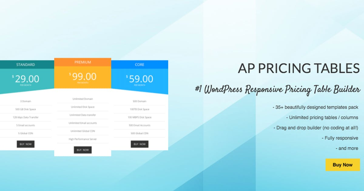 Download AP Pricing Tables -WP Pricing Table Builder Plugin by AccessKeys