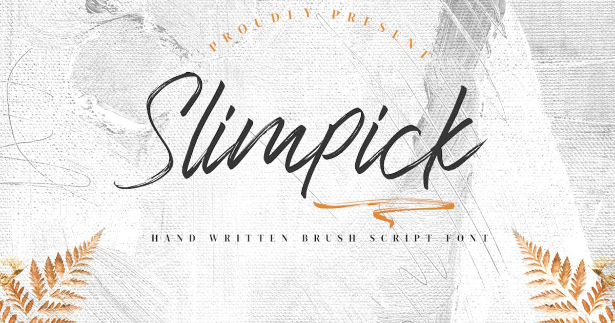 Download Slimpick - Brush Font with Swash by CocoTemplates