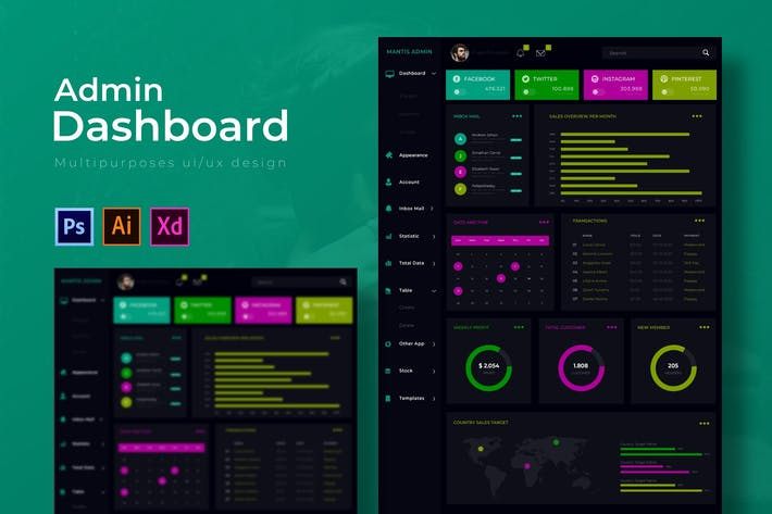 Thumbnail for Mantis Dashboard | Admin Template