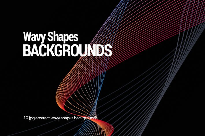 Thumbnail for Abstract Wavy Shapes Backgrounds
