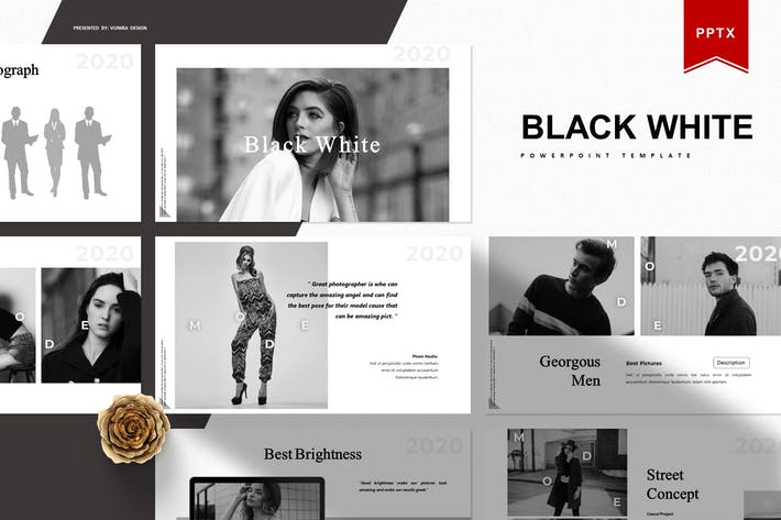Thumbnail for Black White | Powerpoint Template