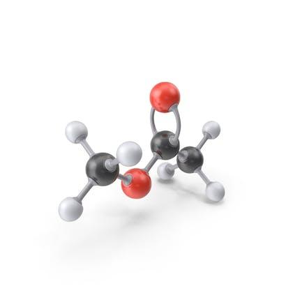 Methyl Acetate Molecule