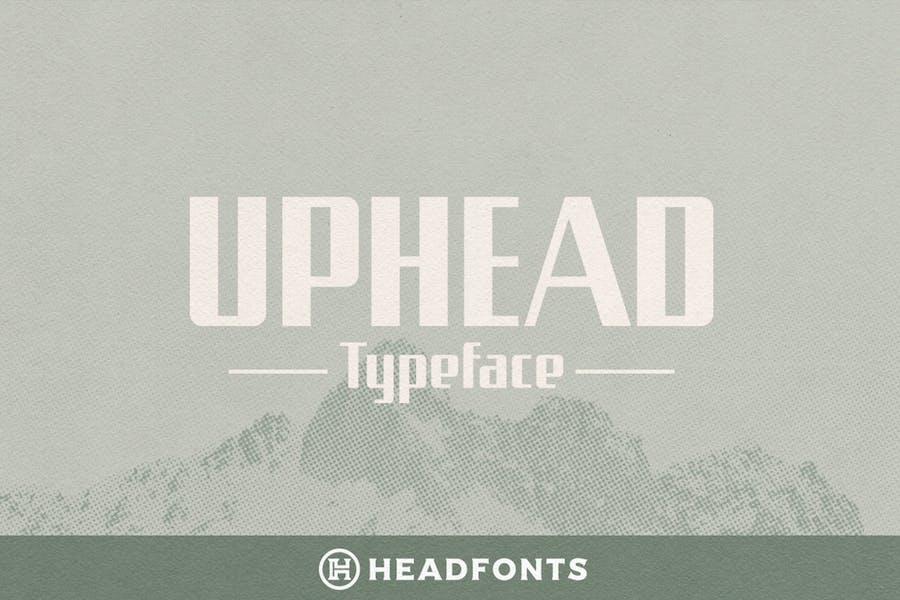 Uphead Typeface Font