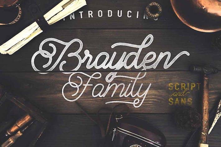 Thumbnail for Brayden Script Family
