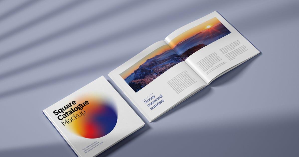 Download Square Catalogue Mockup by deeplabstudio