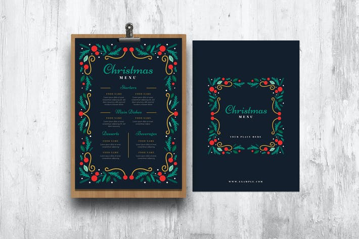 Special Christmas Menu Template Design