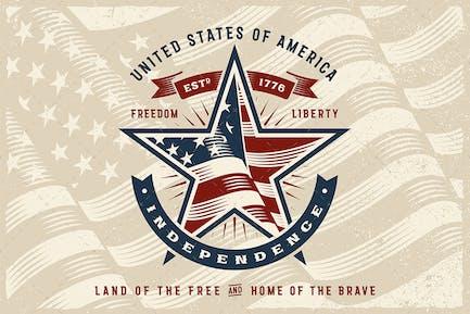 Vintage USA Independence Label