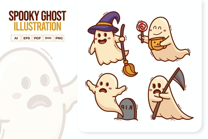 Thumbnail for Cute Spooky Ghost