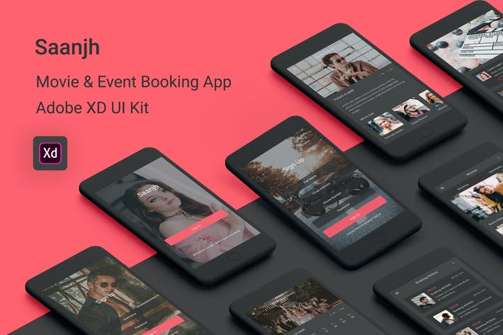 Thumbnail for Saanjh - Movie & Event Booking Adobe XD UI Kit